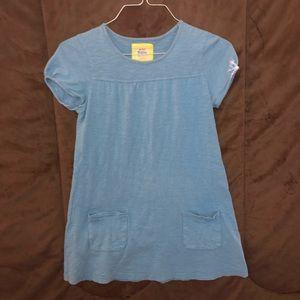 MINI BODEN Girls summer spring Blue Long Top Shirt